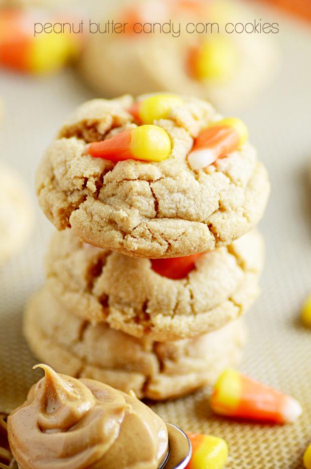 Peanut Butter Candy Corn Cookies