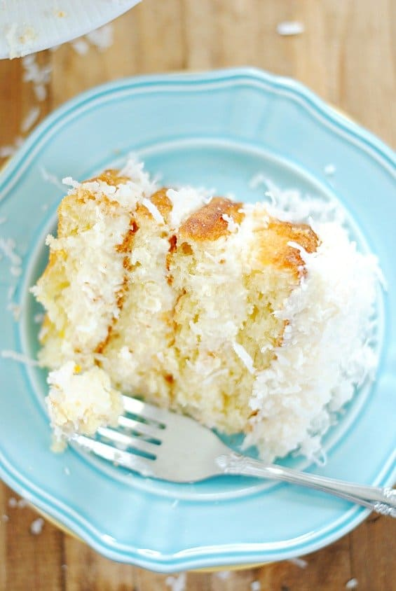 Grandma's recipe for coconut cake