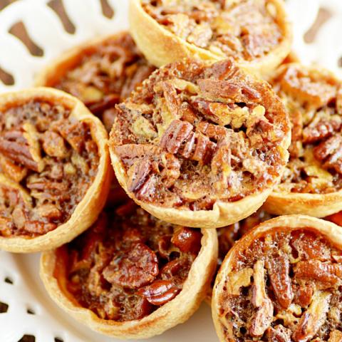 Mini Pecan Pie Recipe perfect for Thanksgiving or Christmas dessert!