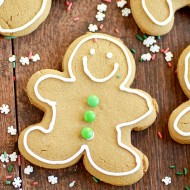 Classic Gingerbread Men Cookie recipe with no dough chilling required!