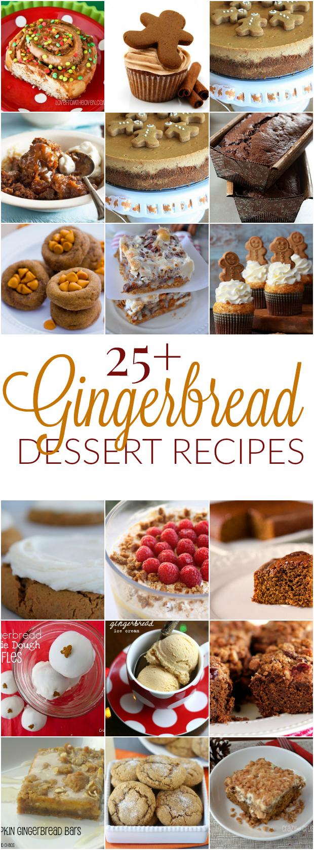 25+ Gingerbread Dessert Recipes