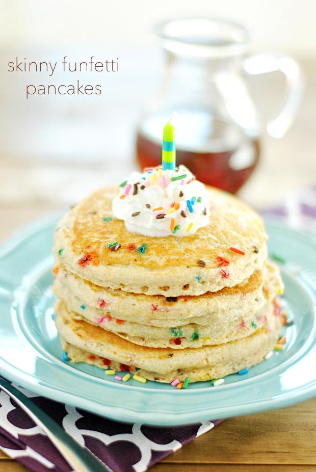 Skinny Funfetti Pancakes