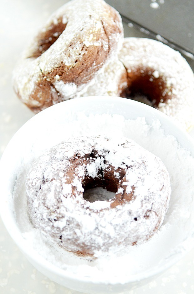 Skinny Chocolate Donuts are easy to make. You only need 2 ingredients!