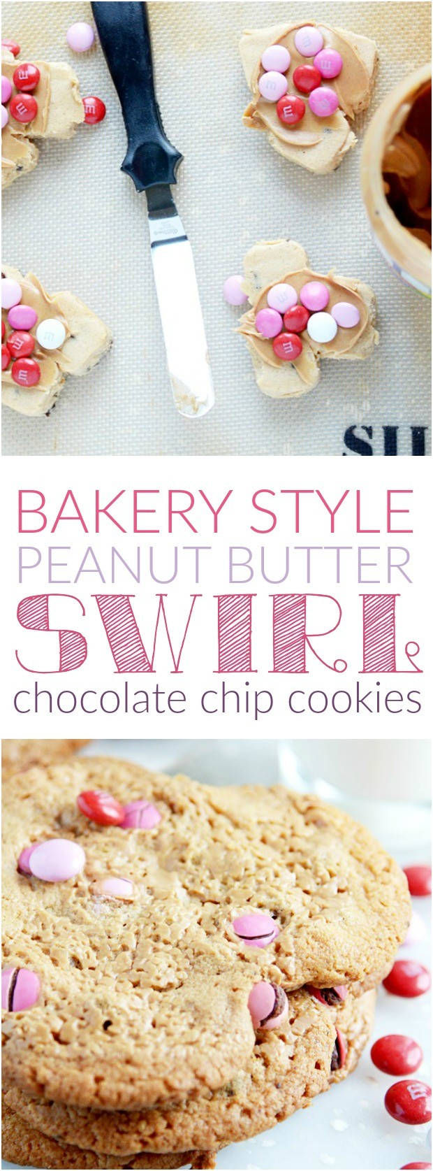 Bakery Style Peanut Butter Swirl Chocolate Chip Cookies ...