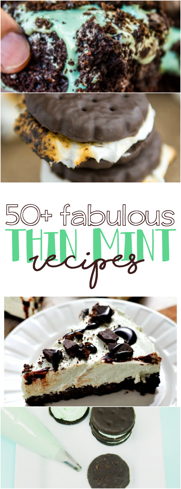 50+ creative Thin Mint recipes including cheesecake filled cookies, brownies, and ice cream!