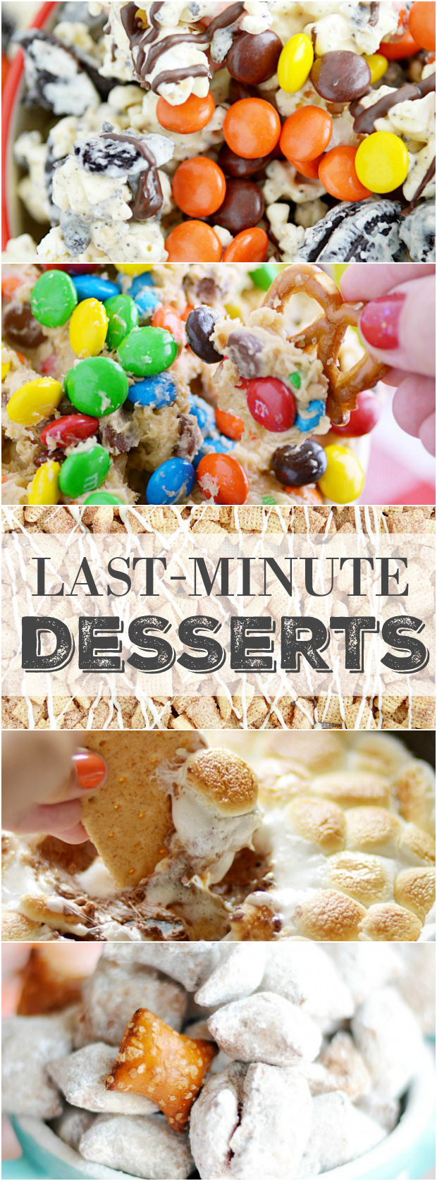 My Top 5 Favorite Desserts you can make in 10 minutes or less. Perfect recipes for parties!