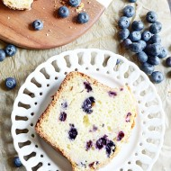 This soft and moist blueberry quick bread can be mixed up so fast! Packed with blueberries and vanilla flavor.