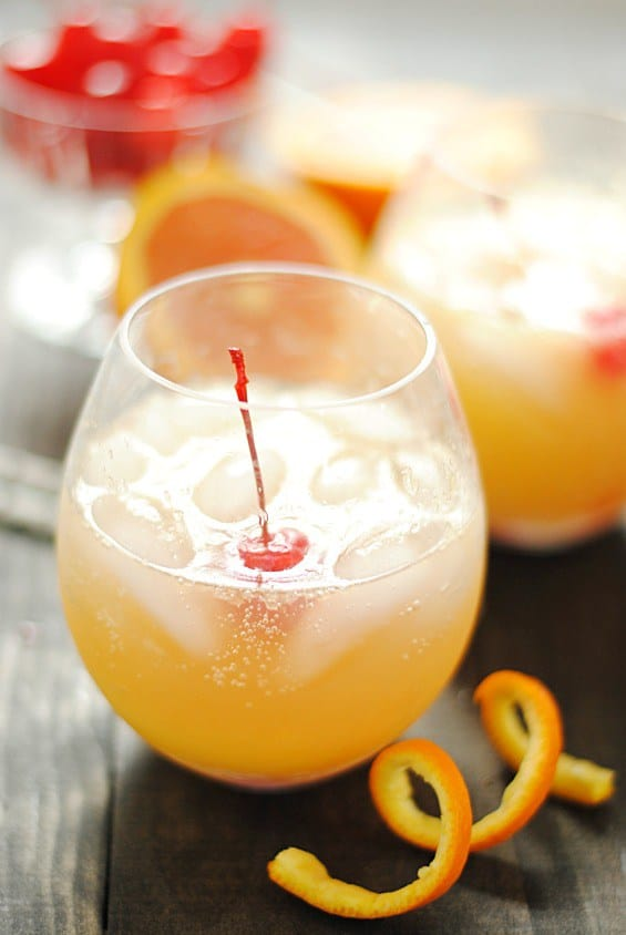 I love non-alcoholic mocktails. And this drink, called an Orange Swizzle, is one of my favorites. It combines ginger ale and orange juice into a delicious and refreshing sweet beverage!