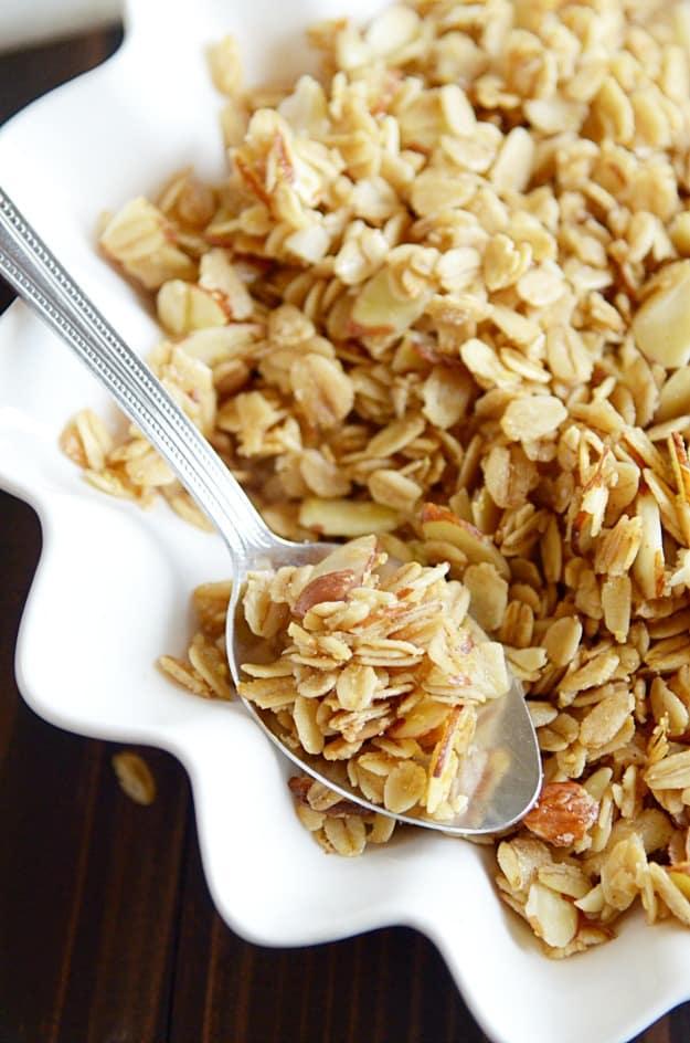 Quick and Easy Vanilla Almond Granola