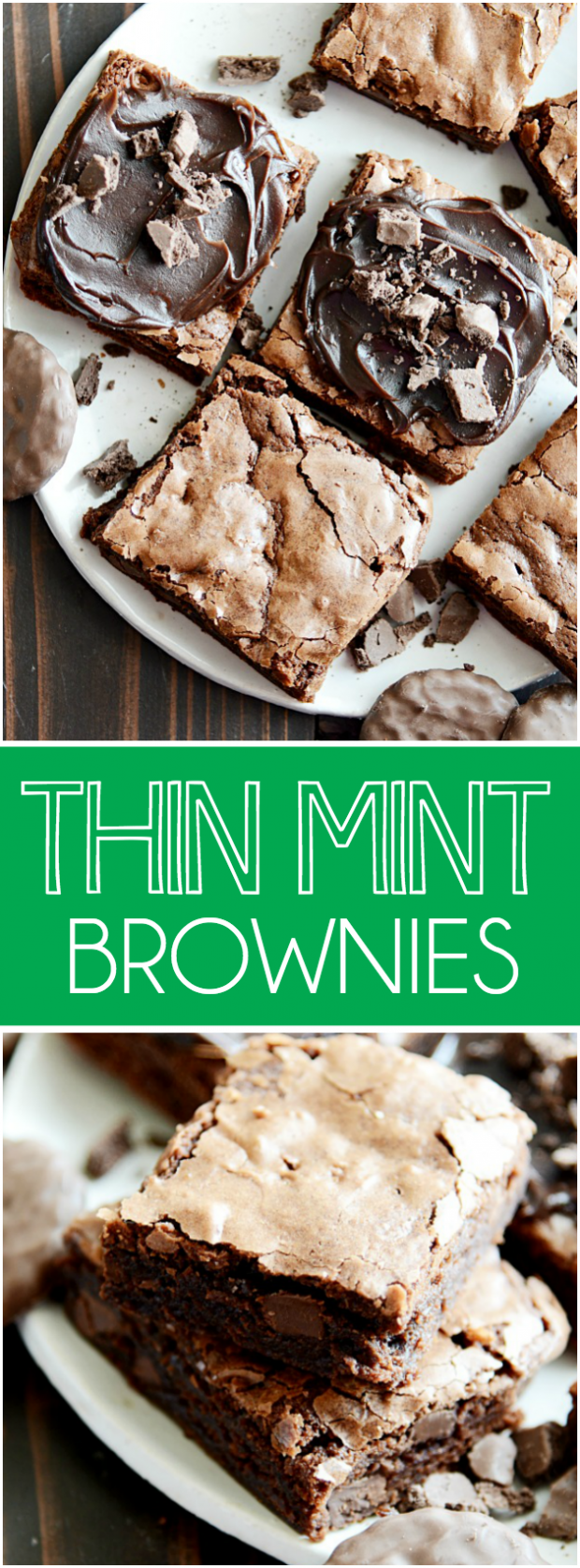 Rich fudgy brownies that taste like your favorite Thin Mint Girl Scout Cookies!