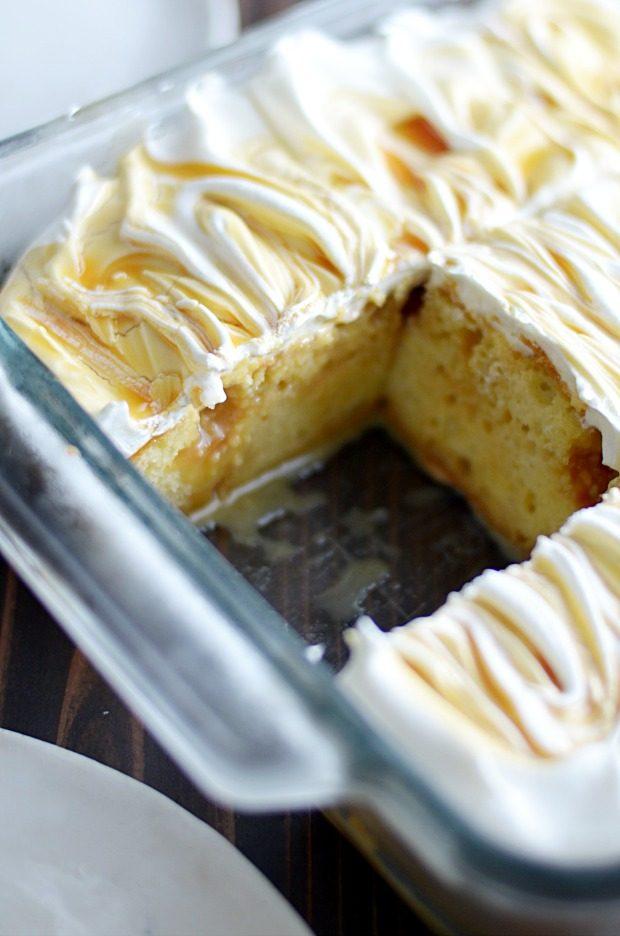 Salted Caramel Poke Cake