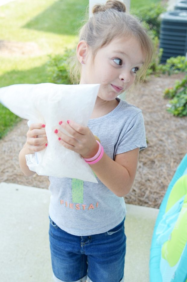 No ice cream maker required! All you need is ice, rock salt, and a few simple ingredients to shake up inside a bag. A perfect recipe for kids!