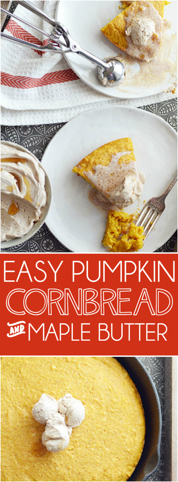 Bursting with pumpkin flavor, tender crumbs, and slathered with a homemade maple cinnamon butter, it's easy for me to say that this will be your favorite pumpkin recipe this fall!