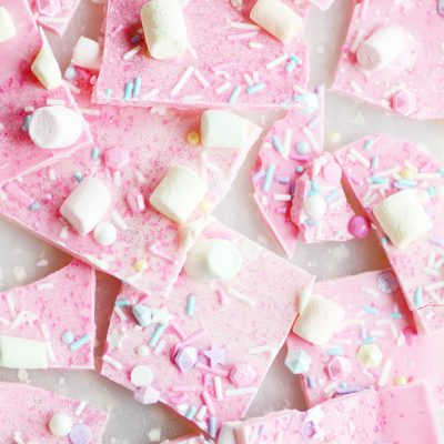 Sparkly, shimmery, magical, pink Unicorn bark for the pretty princess in your life :)
