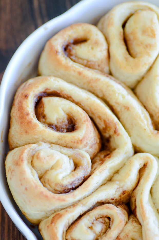 Homestyle Cinnamon Rolls made with a crusty French bread recipe.