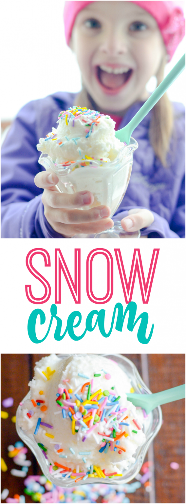 Easy two-ingredient snow cream is so much fun to make on a wintery snow day!