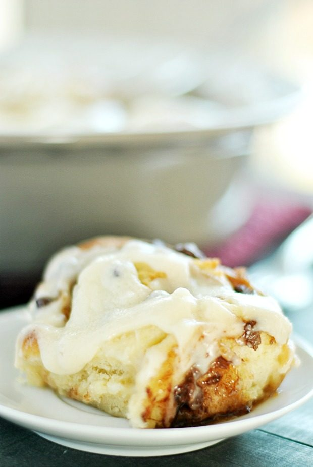 Chocolate Chip Cinnamon Rolls from Something Swanky