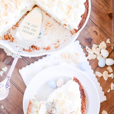 It's like the inside of a mounds bar piled into a homemade crust and topped with whipped cream. What's not to love about this daring French Coconut Pie??