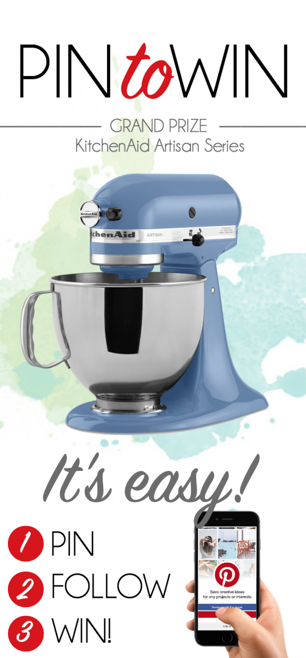 Pin it to Win it! We're giving away this gorgeous KitchenAid and showing off some of our favorite bloggers!