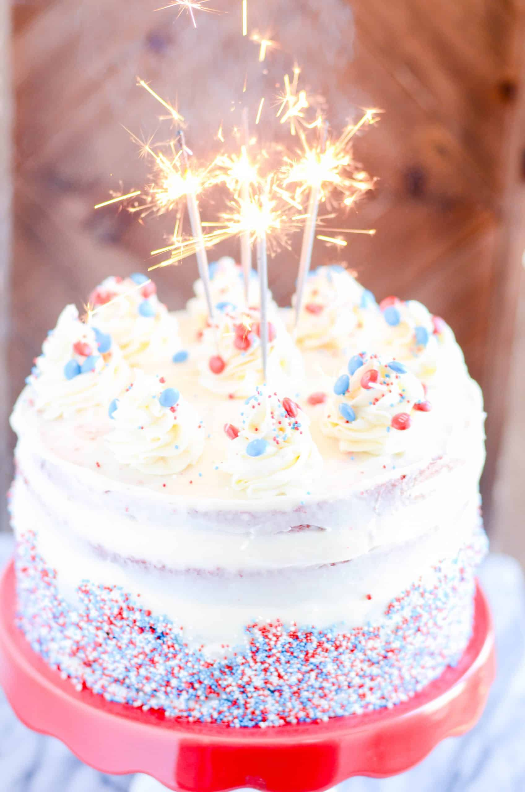 Fourth Of July Pinata Cake Something Swanky