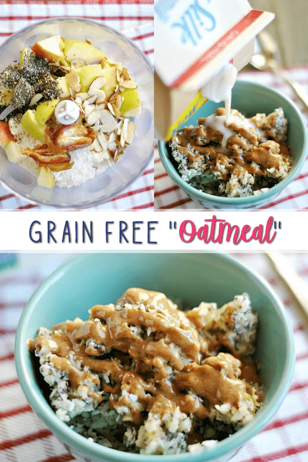 "Seriously delicious grain free (Whole 30) ""oatmeal."" You'll want to try this healthy bowl whether you're avoiding grains or not!"