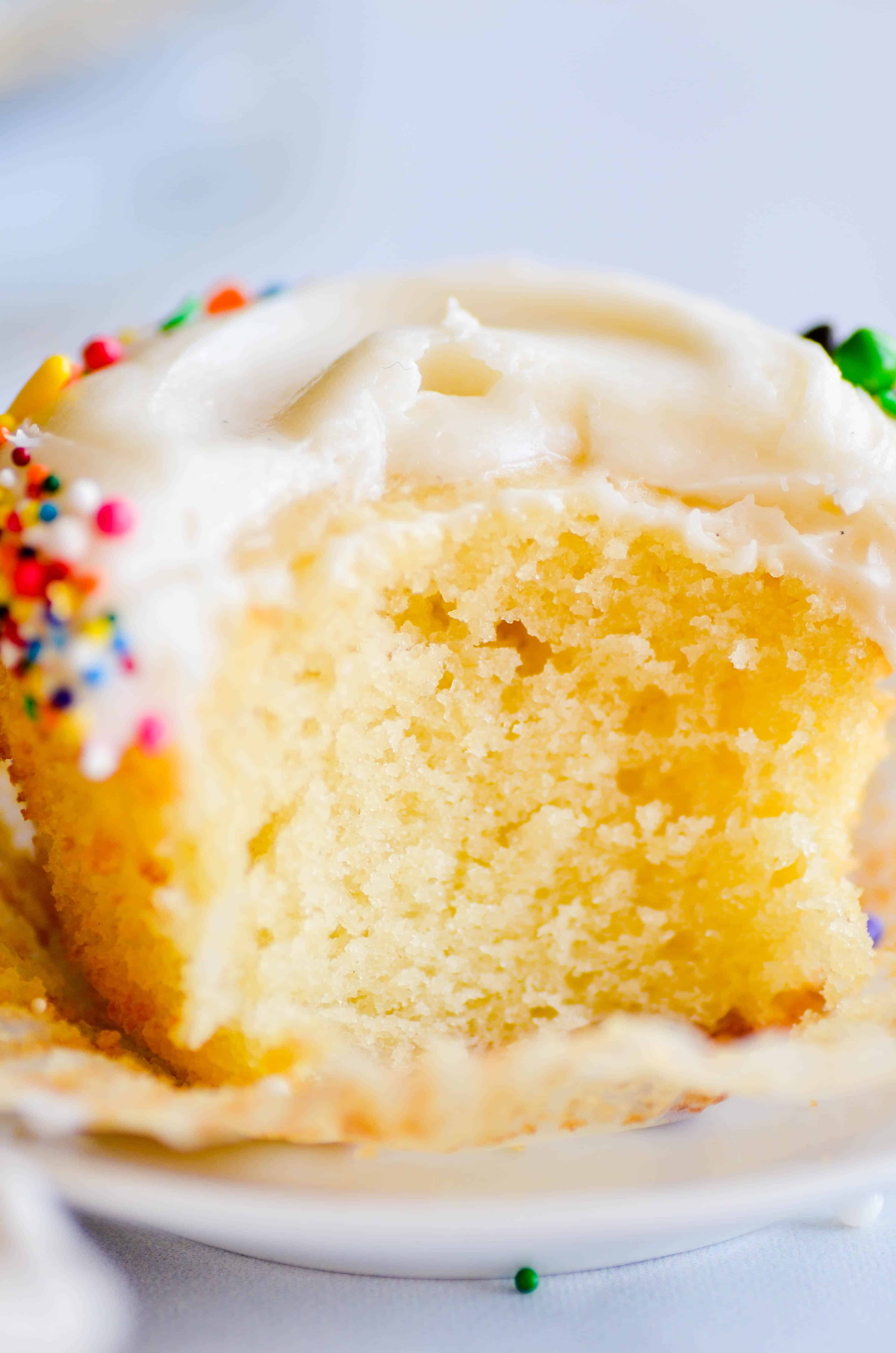 These Classic Vanilla Cupcakes are my favorite! And you'll be surprised how easy they are to make from scratch.