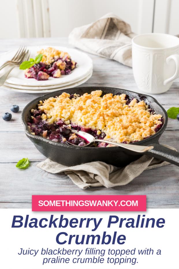 Blackberry Praline Crumble