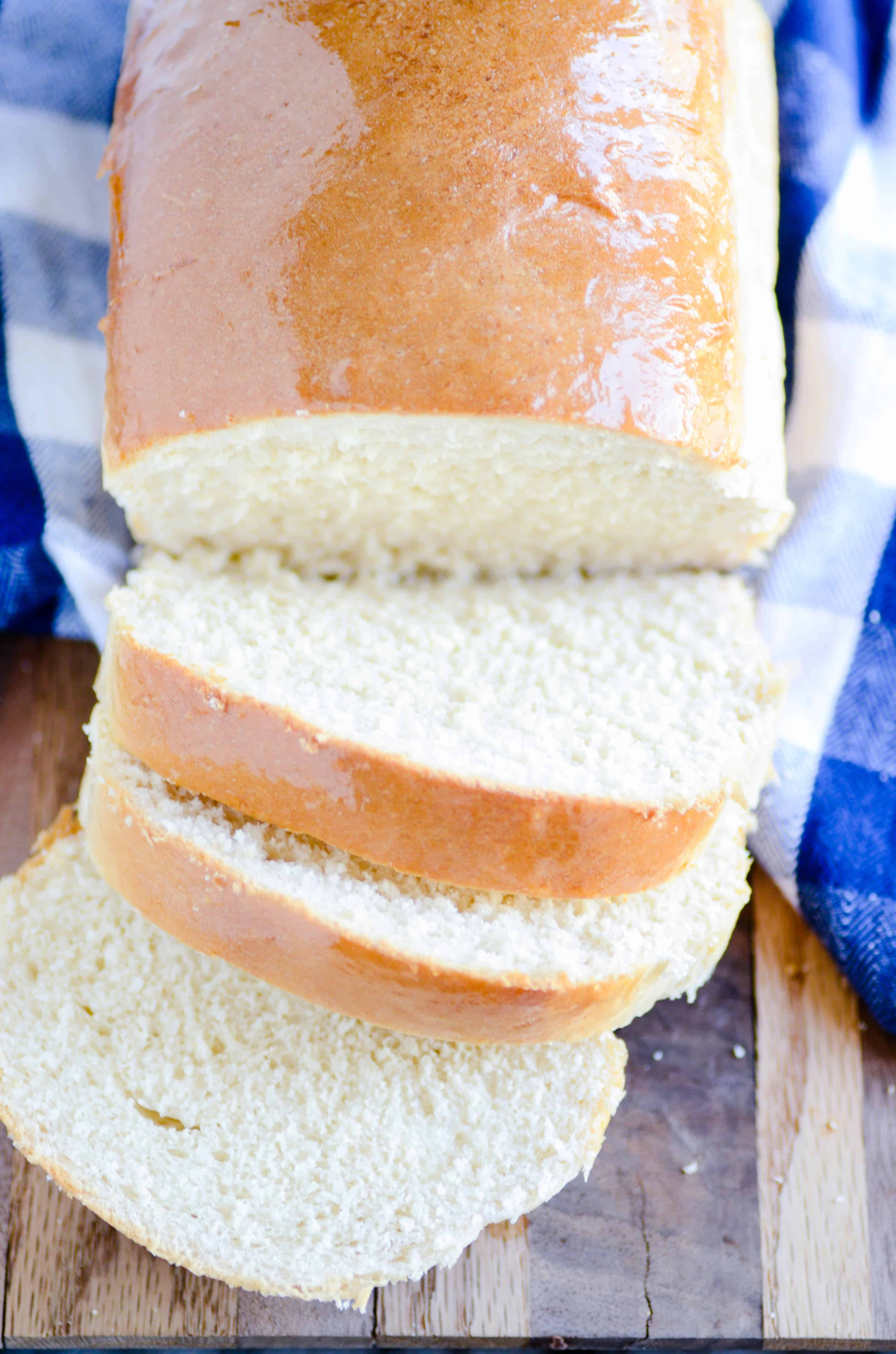 This simple recipe for homemade bread is a family favorite. Use it for sandwiches, french toast, or straight out of the oven smothered in butter!