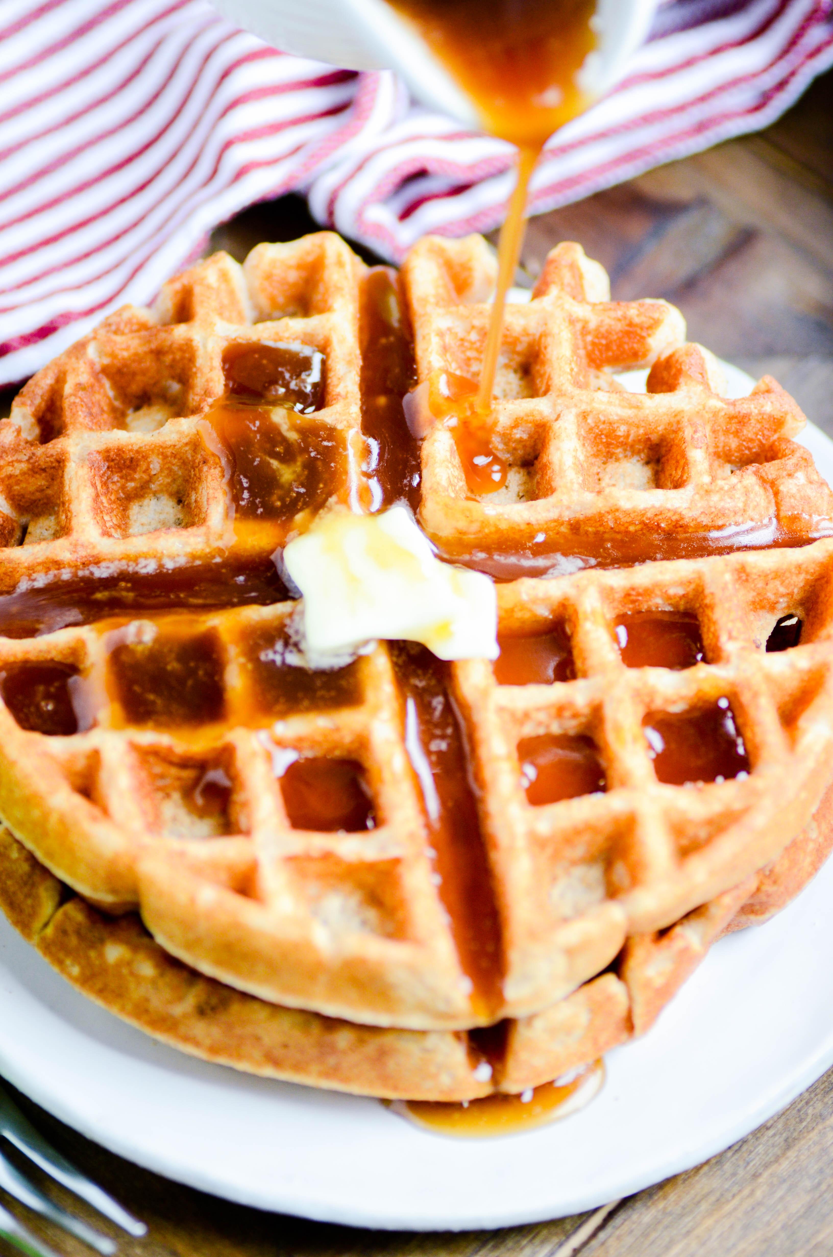 Apple Cider Buttermilk Waffles & Caramel Apple Cider Syrup ...