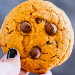 These Pumpkin Chocolate Chip Cookies are a MUST TRY this Fall!
