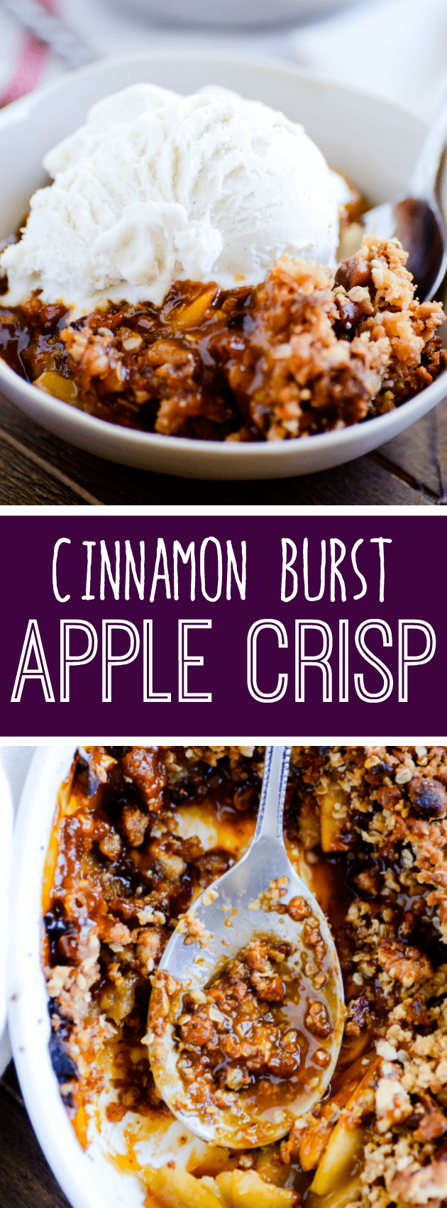 Here's a recipe for a warm, gooey, comforting crisp full of hearty oats, juicy apples, and cinnamon morsels.