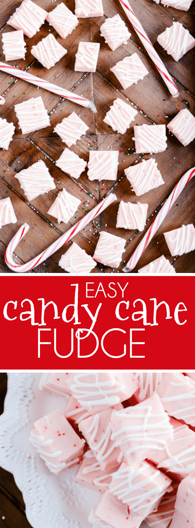 You only need a few simple ingredients to make this creamy white chocolate candy cane fudge.