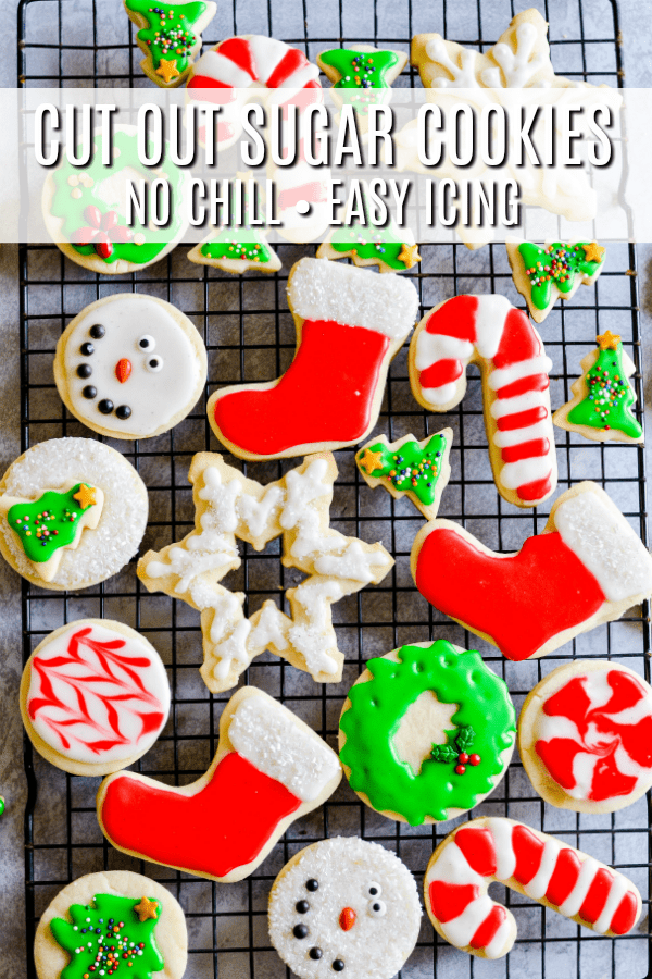 A cut out sugar cookie recipe for soft cookie that hold shape easily without chill time. Perfect for cookie plates during the crazy holiday season!