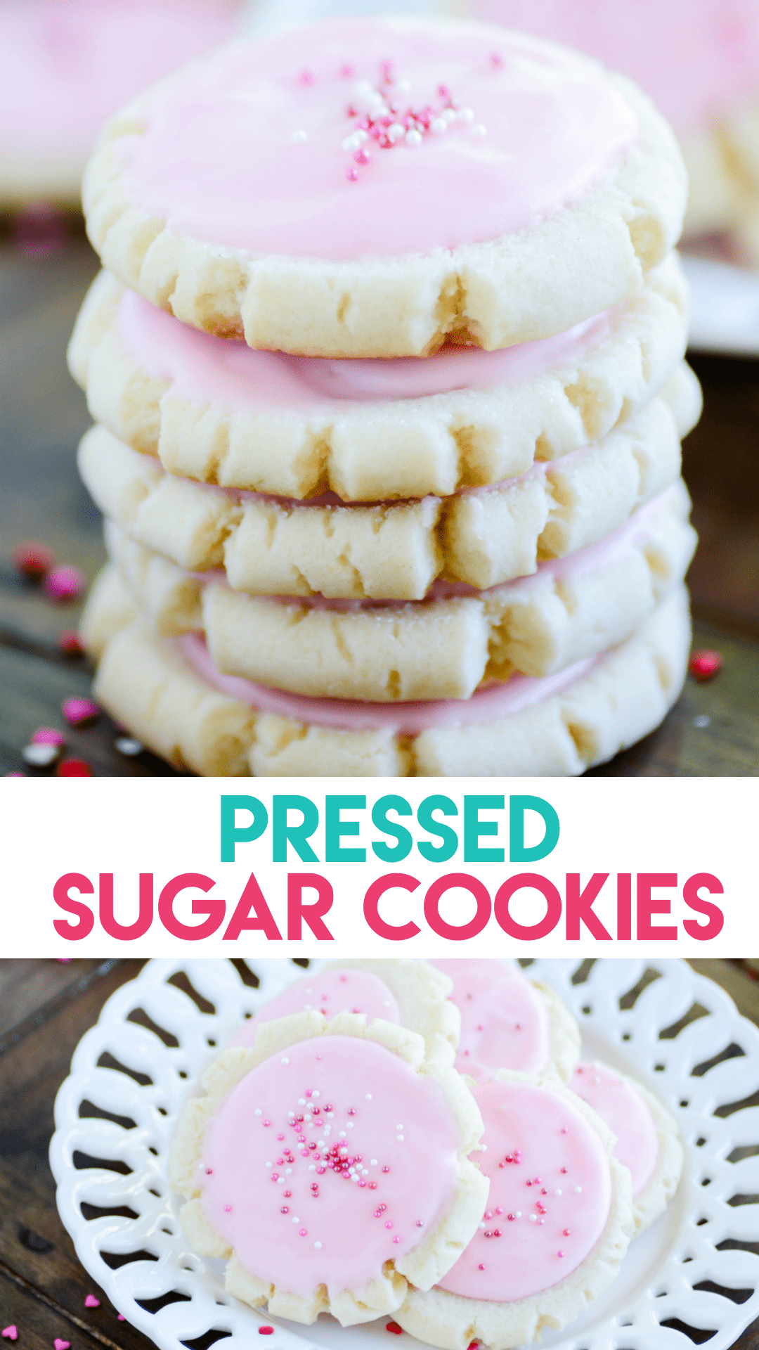 Soft and buttery sugar cookies with a smooth and creamy icing on top.