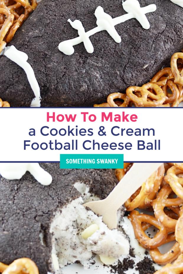 Cookies & Cream Cheese Ball Football – Recipe