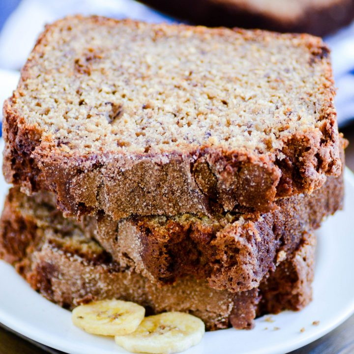 This Whole-Grain Banana Bread is the King Arthur Flour-declared 2018 Recipe of the Year! And for good reason. The whole wheat flour gives this bread a hearty texture and flavor, but it stays super moist thanks to a generous helping of brown sugar and bananas.