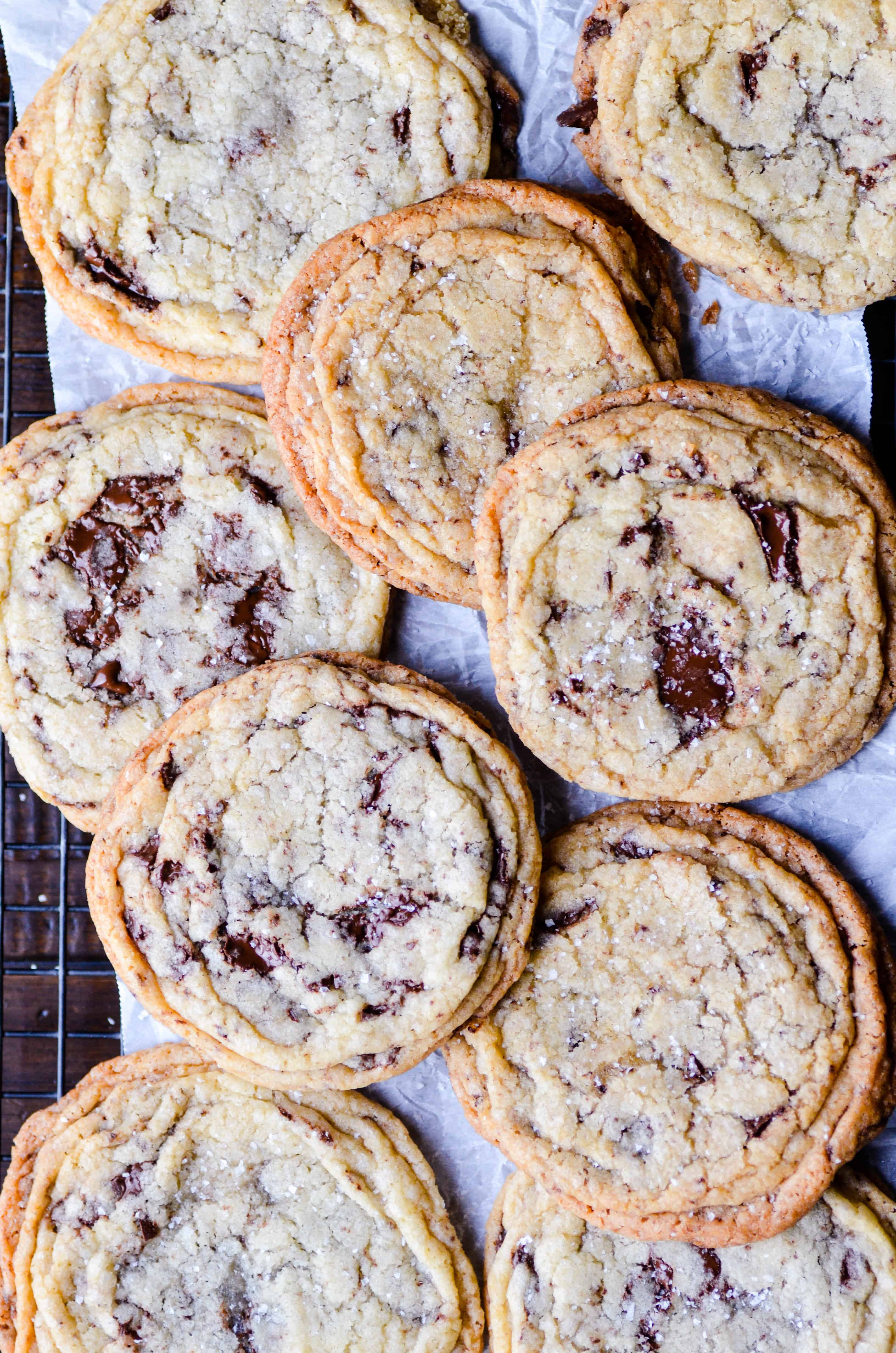 This recipe for chocolate chip cookies uses a special trick to create those crispy, golden ridges on the outside while keeping the centers soft and chewy.