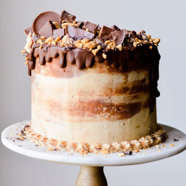 The ULTIMATE peanut butter cup lovers cake!
