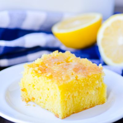 Where has this Lemon Cake been my entire life?! It's ridiculously moist and bursting with a sweet lemon flavor. A perfect spring and summer recipe!