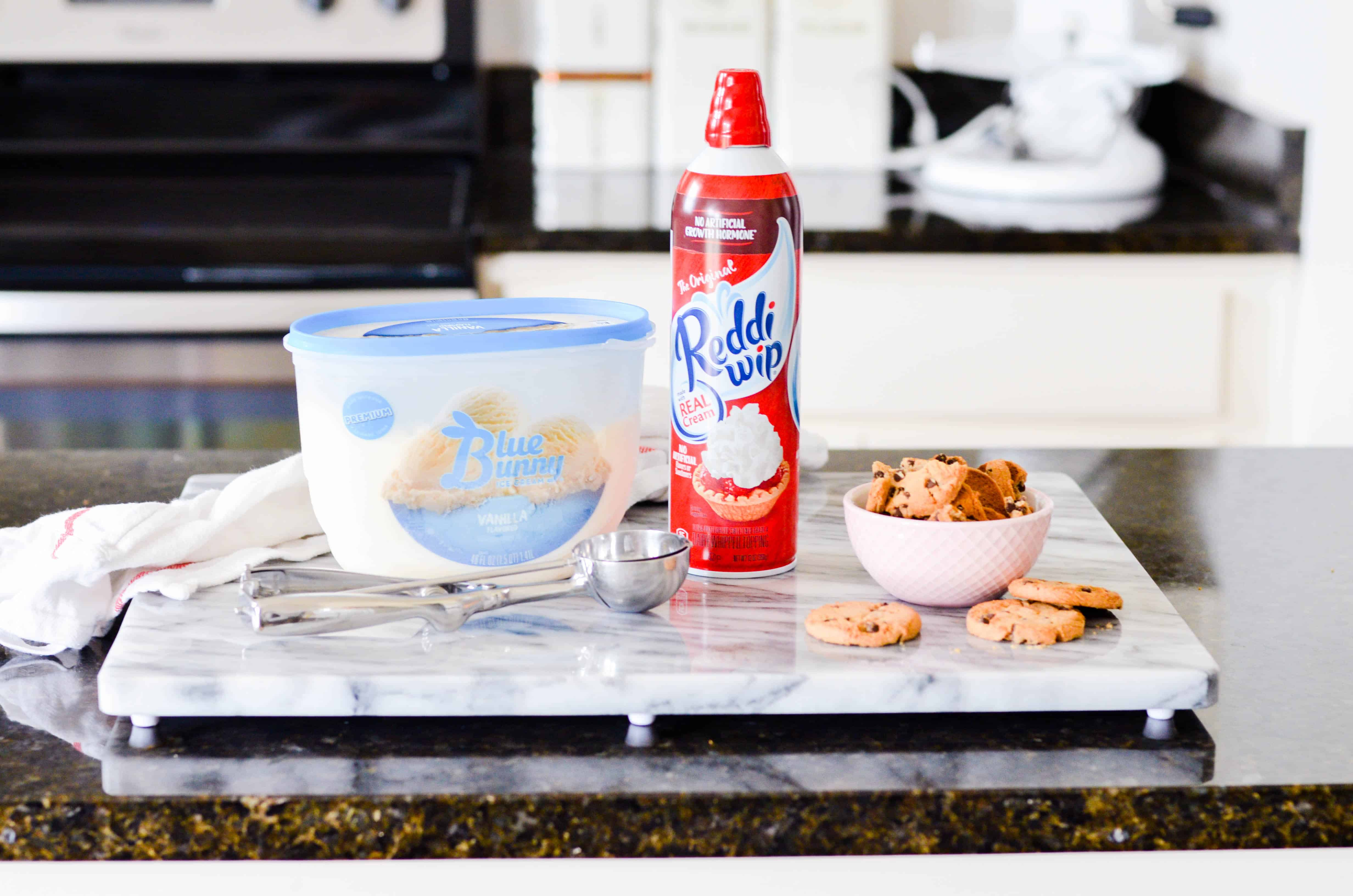 Have you seen those crazy milkshakes popping up all over the internet? This Crazy Chocolate Chip Cookie Sundae is even better, because you can make it at home!
