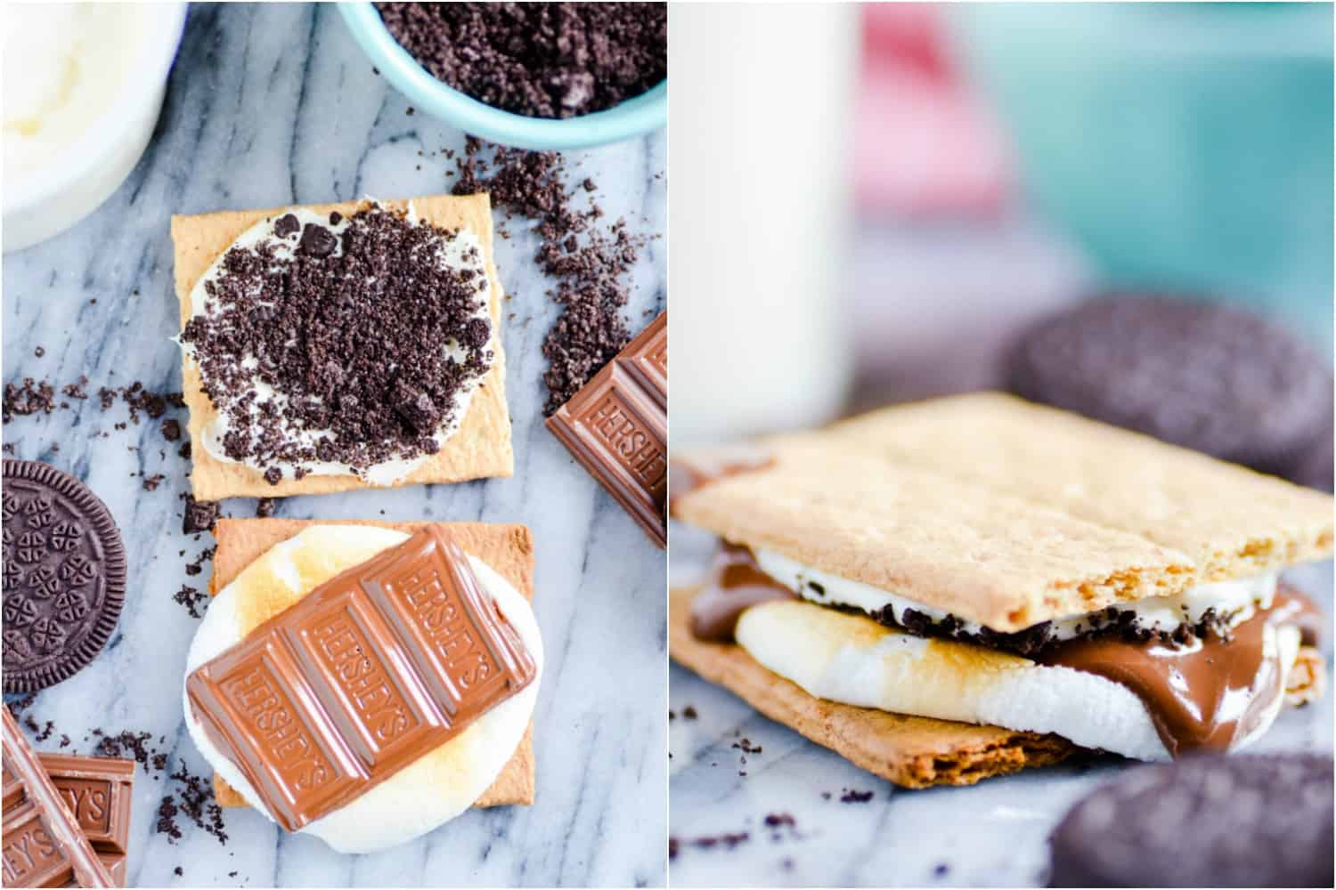 With flavors like Cookies & Cream, Chocolate Covered Strawberry, and Fluffer Nutter, I think your'll agree that any summer get-together is the perfect time for these indoor Gourmet S'mores!