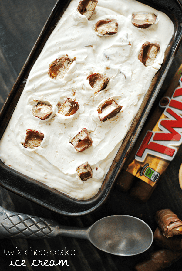 Twix Cheesecake Ice Cream