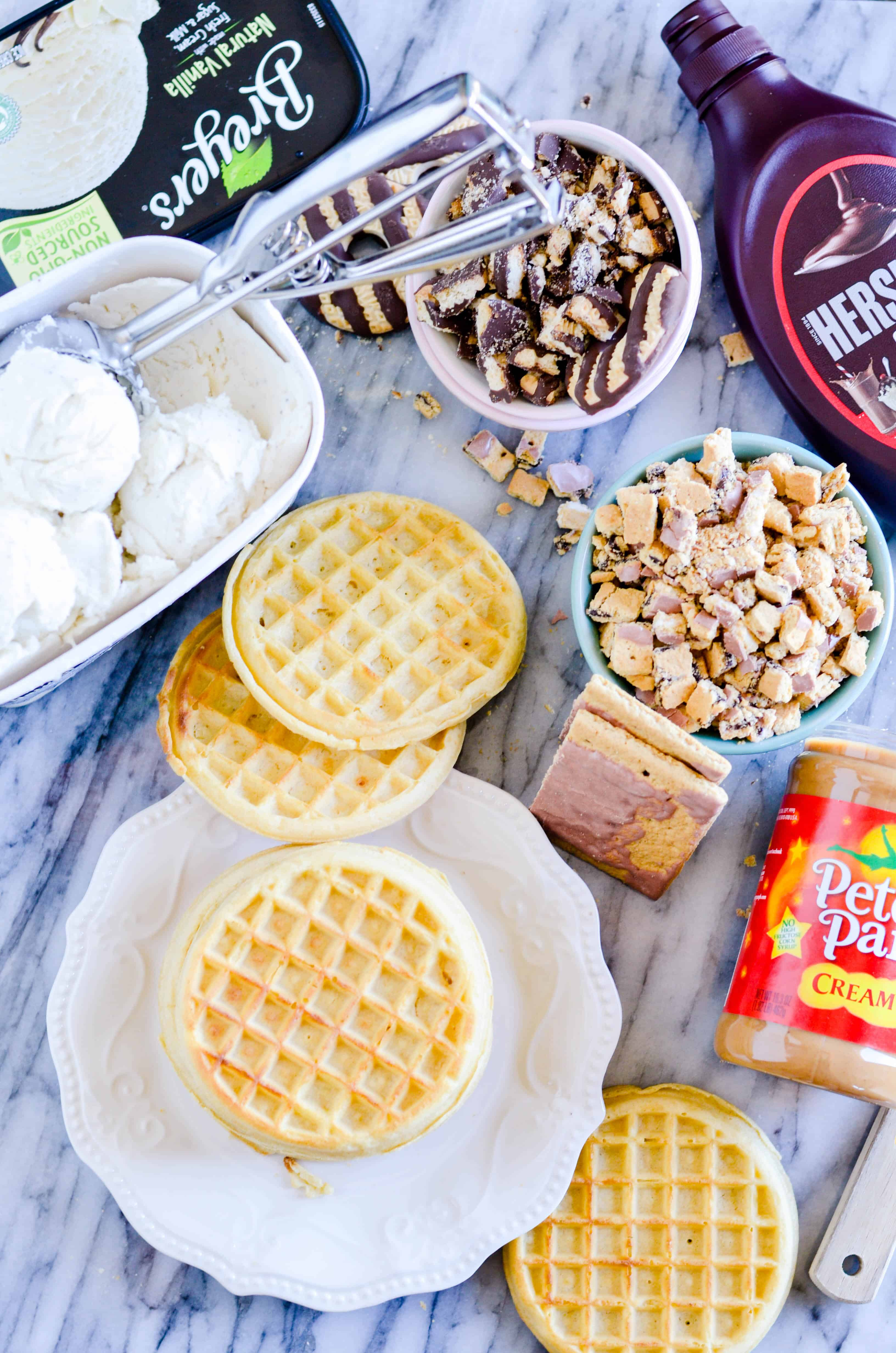 This Chocolate Peanut Butter Waffle Ice Cream Blast brings the fun and flavor of a waffle truck right into your kitchen at home!