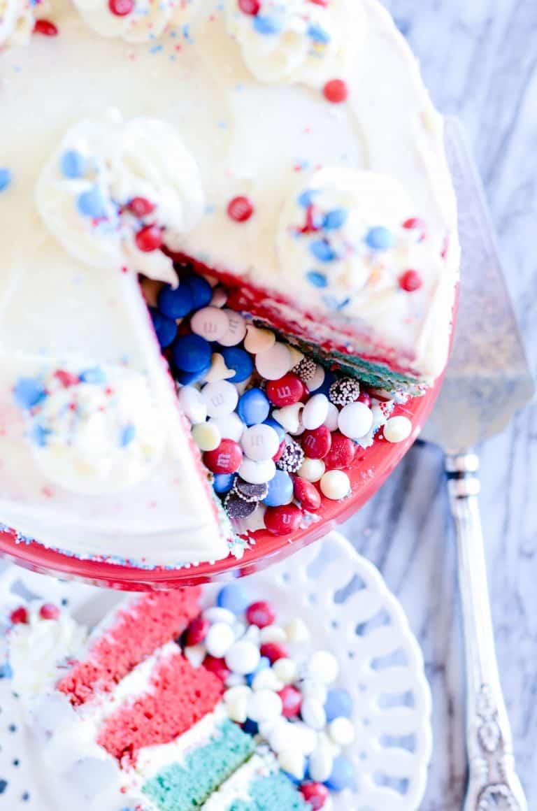 4th of July Piñata Cake
