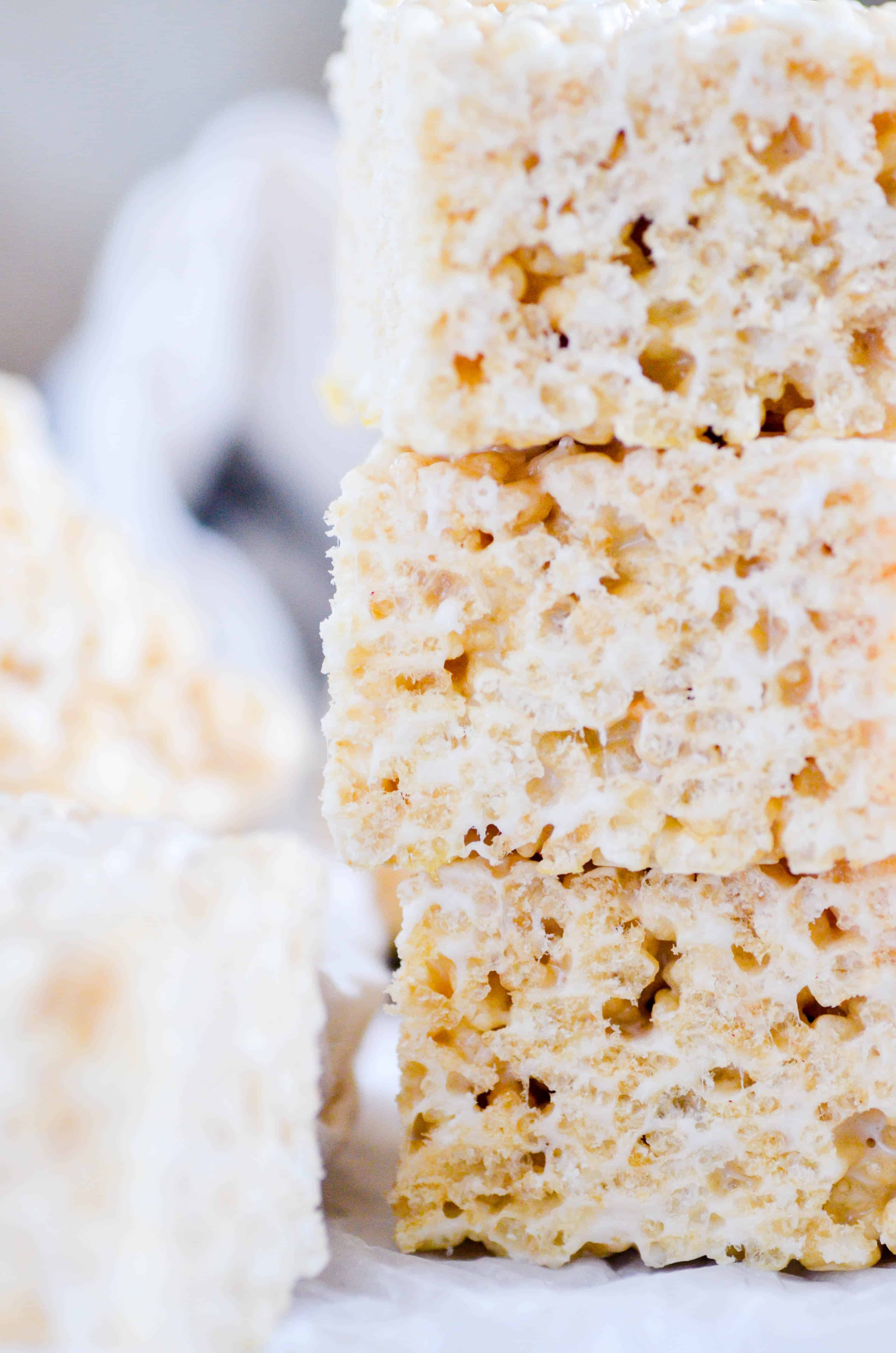 Everyone needs a recipe for the Perfect Rice Krispie treats in their back pocket! This one is my very favorite.