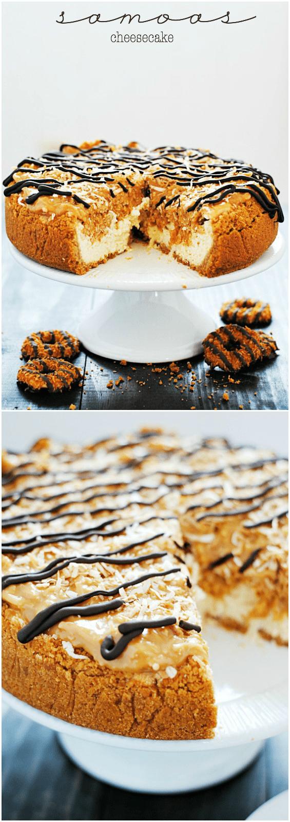 Samoas Cheesecake