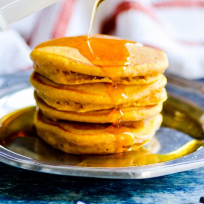 Welcome the beginning of Fall with a big batch of pumpkin pancakes!