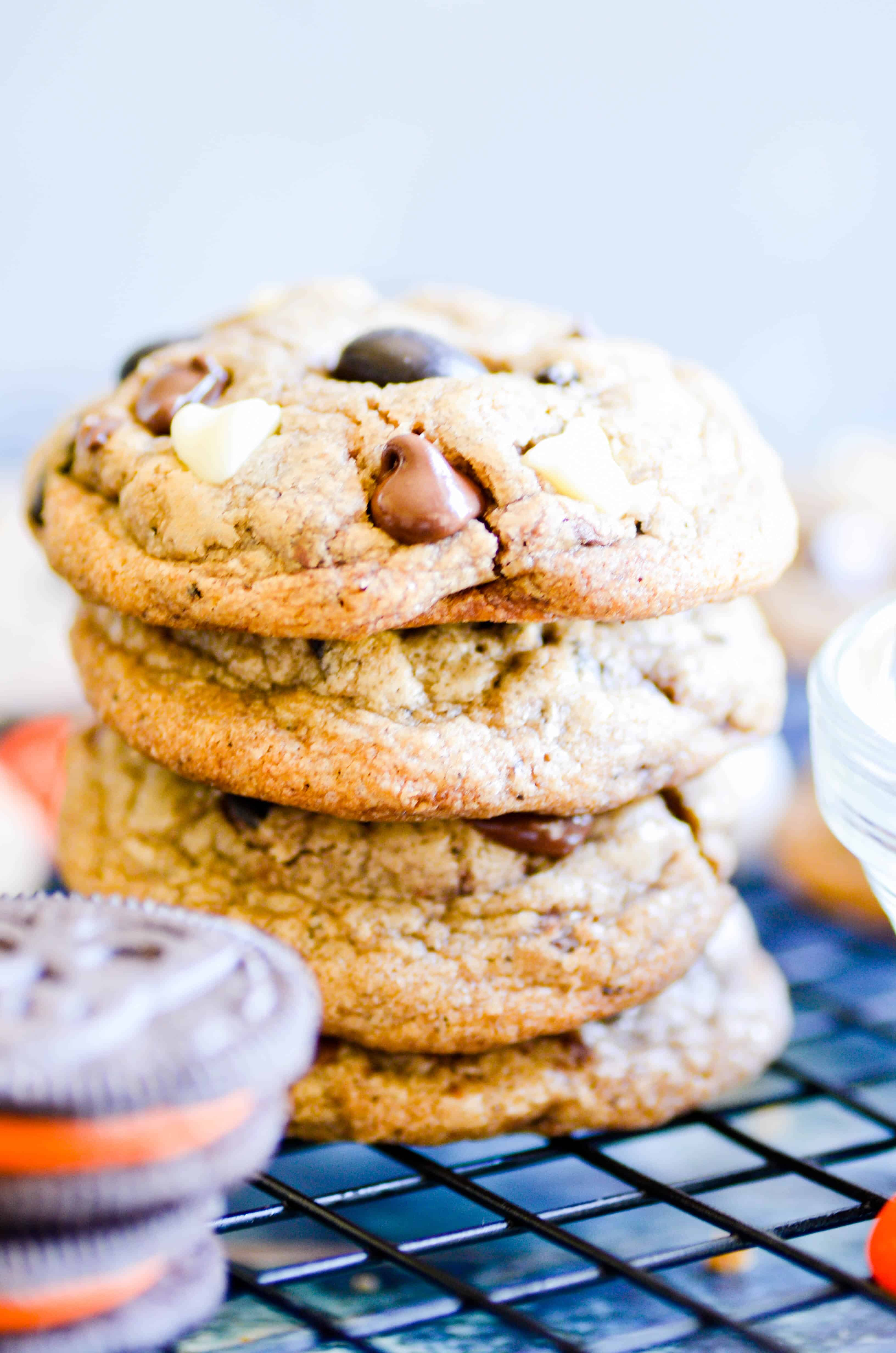 These Cookies & SCREEM M&M Chocolate Chip Cookies are a fun twist on a classic chocolate chip cookie.