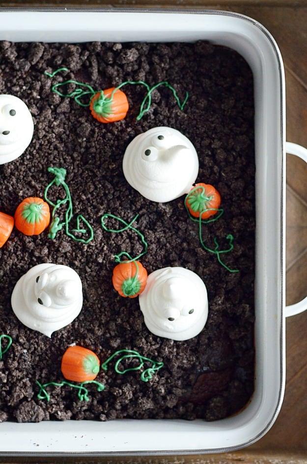Haunted Pumpkin Patch Poke Cake