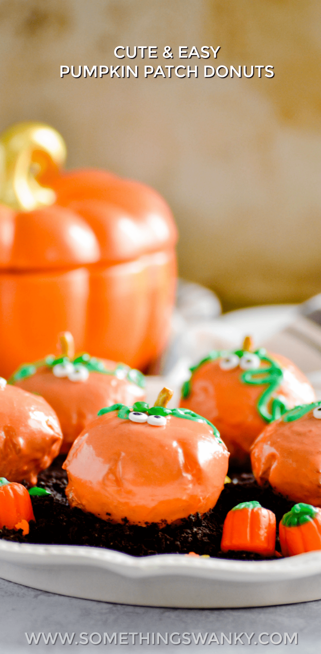 Use Rhodes Rolls to make these Cute Pumpkin Patch Donuts in just a few easy steps.